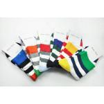 A.E.SHON Mens Stripe Socks Colours Cotton Socks Men's Clothing