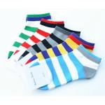 A.E.SHON Herren Streifen Trainer Socken Mode weicher Baumwolle Socken Herrenbekleidung