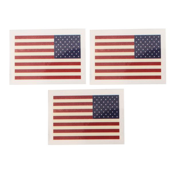 American Flag Mønster Vandtæt Tattoo Stickers Herretøj