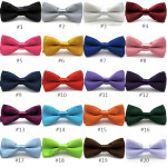 Boys Children Kids Solid Wedding Party Bow tie Men's Clothing