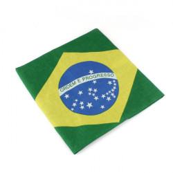 Brasilianische Flagge Muster Hip Hop Bandanas WM Fans Kopftuch