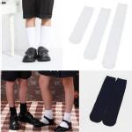British Style Socks School Kid Solid Hosen Knee High Cotton Socks Men's Clothing