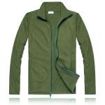 Fashion Casual Mens Fleece Jacket Warm Liner Zipper Soft Coat Men's Clothing