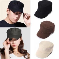 Korean Mode Flat  Armén Hatt för Män och Kvinnor