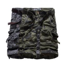 Män Kamouflerad Shorts Jeans Loose Cargo Camo Militärbyxor A-1375