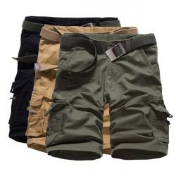 Männer beiläufige lose Baumwolle gemischt Fest Cargo Shorts G49