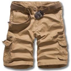 Männer beiläufige lose Baumwolle gemischt Fest Cargo Shorts G52