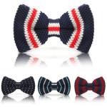 Men Knit Bowknot Wedding Party Adjustable Neckwear Necktie Bowtie Tie Men's Clothing