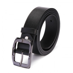 Men Leather Second Layer of Cowskin Buckle Belt