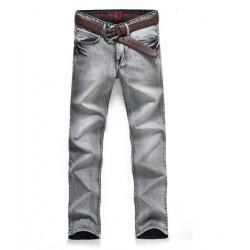 Männer Slim Fit Stoff Lässige Off White Jeans Hose Large Size