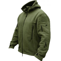Men Tactical Military Winter Fleece Hooded Outdoor Jacket