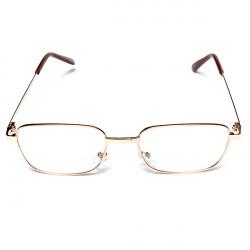 Mænd Kvinder Brown Metalramme Reading Presbyopic Glasses