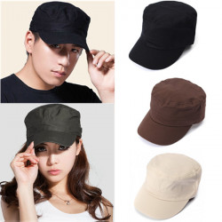 Men & Women Korean Fashion Flat  Outdoor Army Hat Baseball Cap
