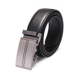 Män Automatisk Spänne Läder Black Bälte
