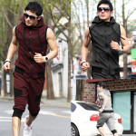 Mens Big Size Hooded Sports Wear Suits Jackets Men's Clothing