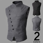 Men's British Style Waistcoat Business Casual Slim Pony Clip Suit Vest Men's Clothing