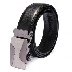 Mens Business Automatic Buckle Leather Cowhide Leisure Belt