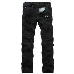 Men's Camo Cargos Soft Cotton Grey Black Cargo Pants 4 Colors
