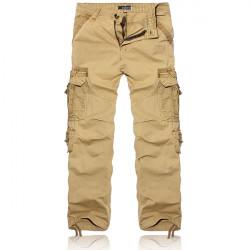 Men's Camo Mulit Large Pockets Cotton Soft Cargo Pants