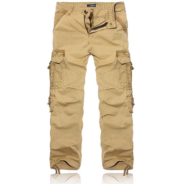 Herren Camo Mulit große Taschen Cotton Soft Cargohose Herrenbekleidung