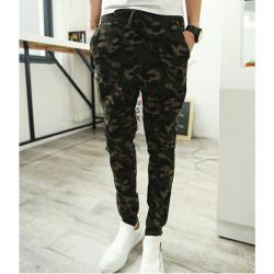 Mens Camouflage Harem Sports Sweatpants Pencil Track Pants