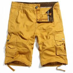 Der zufälligen Männer Cargo Shorts Multi Pocket Style 100% Baumwolle Wasch Shorts