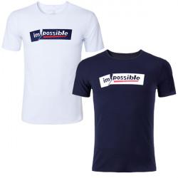 Män Casual Bomull Solid Brev Skriva Omöjligt Brutna Kortärmad T-shirt