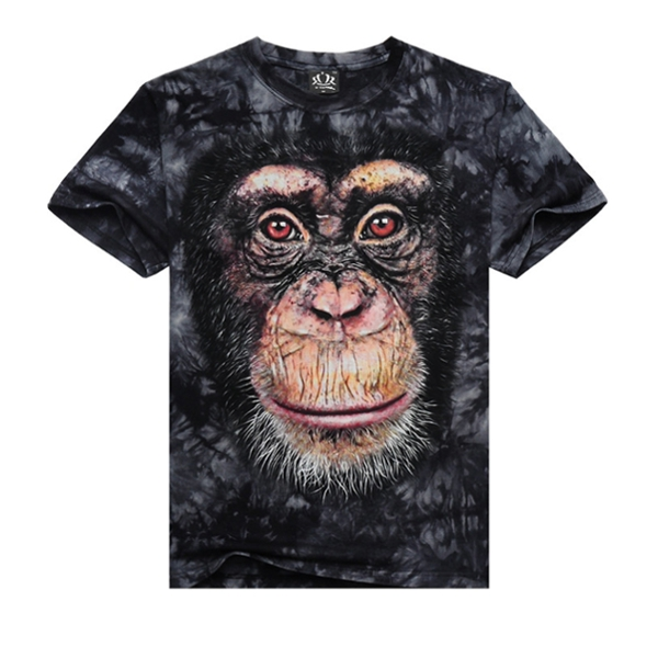 Herre Casual Bomuld Tees 3D Animal Printing Kortærmet T-Shirt Herretøj