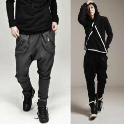 Men's Casual Dance Sports Trousers Baggy Jogging Harem Pants