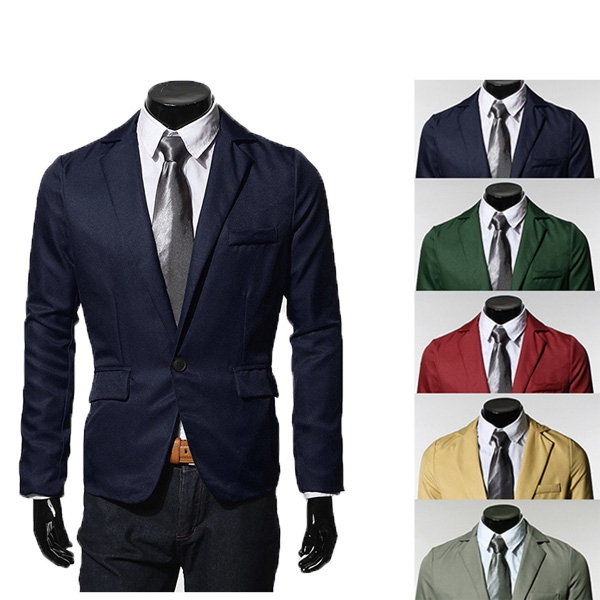 Der zufälligen Männer nehmen Sitz einer Botton Anzüge Blazer Herrenbekleidung