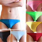 Mens Casual Triangle Underwear Sexy Non-trace Low Waist Briefs Men's Clothing
