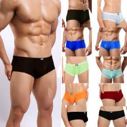 Der zufälligen Männer Ultradünne Briefs Bequeme Ice Silk Nicht Spur Unterwäsche