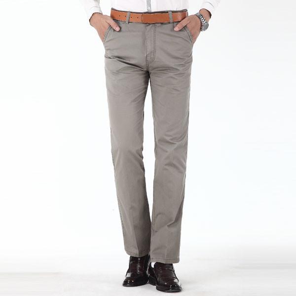 Herren Klassische Slim Fit Baumwolle Business Casual Kleid Hose Herrenbekleidung