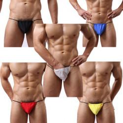 Män Konvex Bag Underkläder Sexig Låg Midja Thong Ren Bomull Briefs