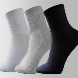 Herren Cosy Cotton Socken beiläufigen Sport Netzstrumpf Solide Socken