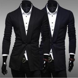 Mens Cotton Slim Coat one button Fashion Leisure suit
