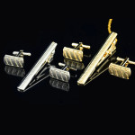 Mens Cufflinks Tie Clip Twill Suit Custom Jewelry Businesses Gifts Men's Clothing