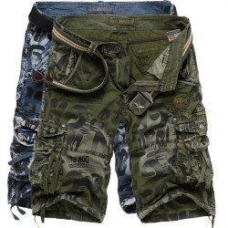 Mens Fashion Camo Shorts Large Multi Pockets Cargo Short Pants