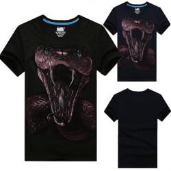Mens Fashion Casual Hip Hop 3D Animal Print Short Sleeve T-shirt