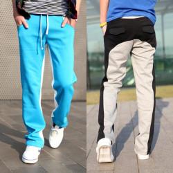 Männer beiläufige Art und Weise koreanischen Splcing Sporthosen