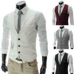 Herrenmode koreanische Version passende Sportler dünner V Ansatz Weste Herrenbekleidung