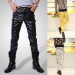 Herren Mode PU Leder kühle dünne Hosen Herrenbekleidung