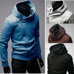 Men's Fashion Slim Fit Jackets Hoodie Sweatshirt Coat W14