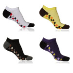 Men's Fashion Sports Plaid Trainer Socks 5 Colors Free Size Men's Clothing