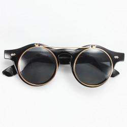 Herrenmode Sonnenbrillen Retro Objektiv Umsatz Brille schwarze Sonnenbrille