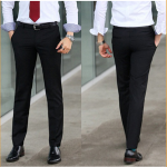 Mens Fit Easy Care Suit Leisure Formal Straight Trousers Pant Men's Clothing