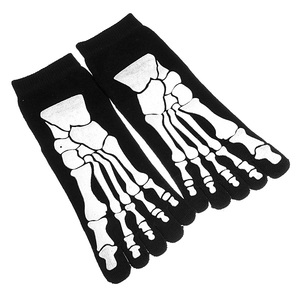 Mens Five Toes Sock Soft Paw Skeleton Novelty Socks Men's Clothing
