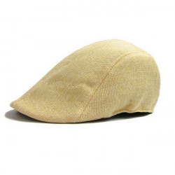 för Män Lin Andningsskärmmössa Dammode Beret Hat