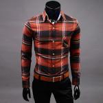 för Män Grid Casual Kontrast Collor Bomull T-shirts Herrkläder