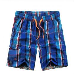 Men's Grid Leisure  Plus-size Beach Shorts Quick-drying Pants